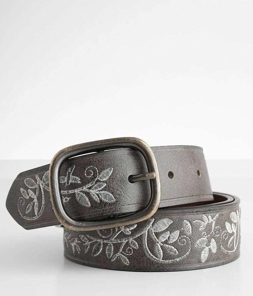 BKE Floral Embroidered Belt front view