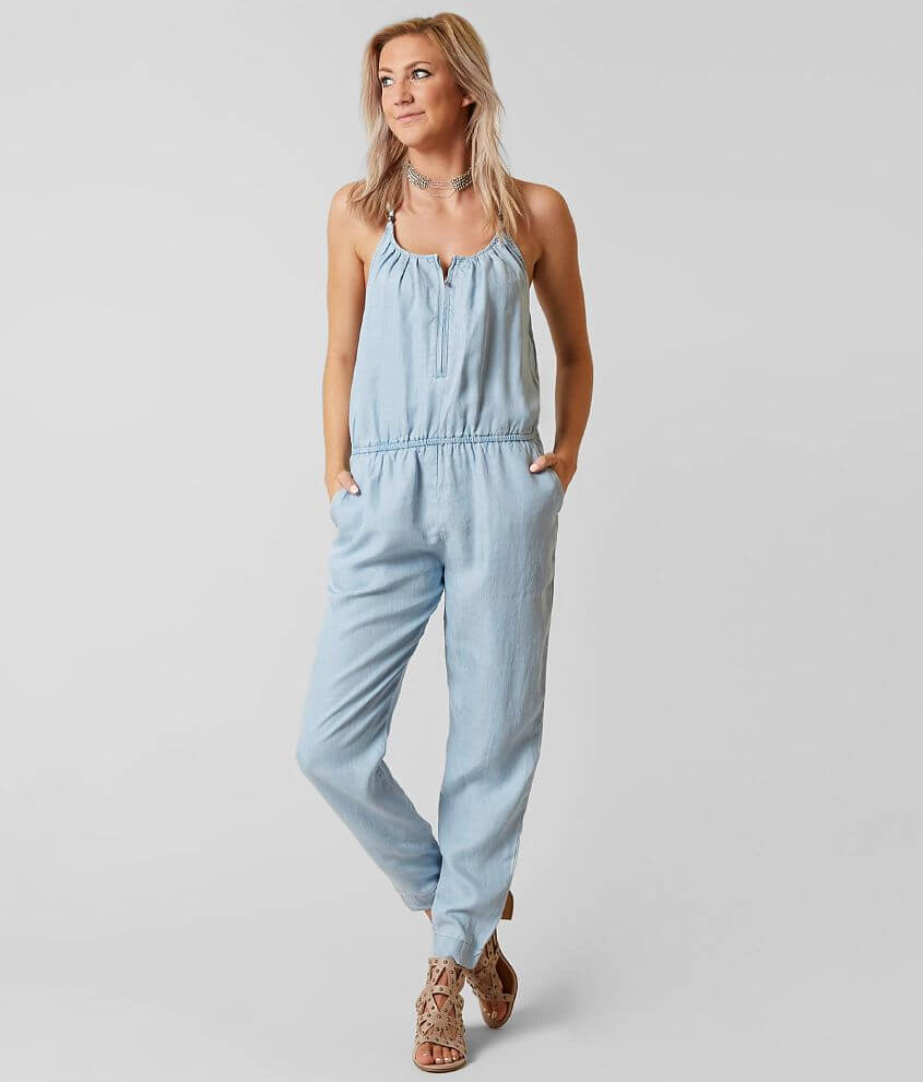 80276e46264 Guess Chambray Romper - Women s Rompers Jumpsuits in Super Bleached ...