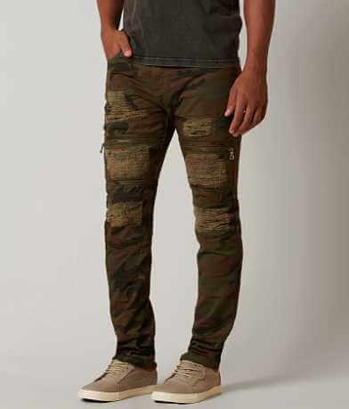 Grindhouse Slim Destructed Camo Jean