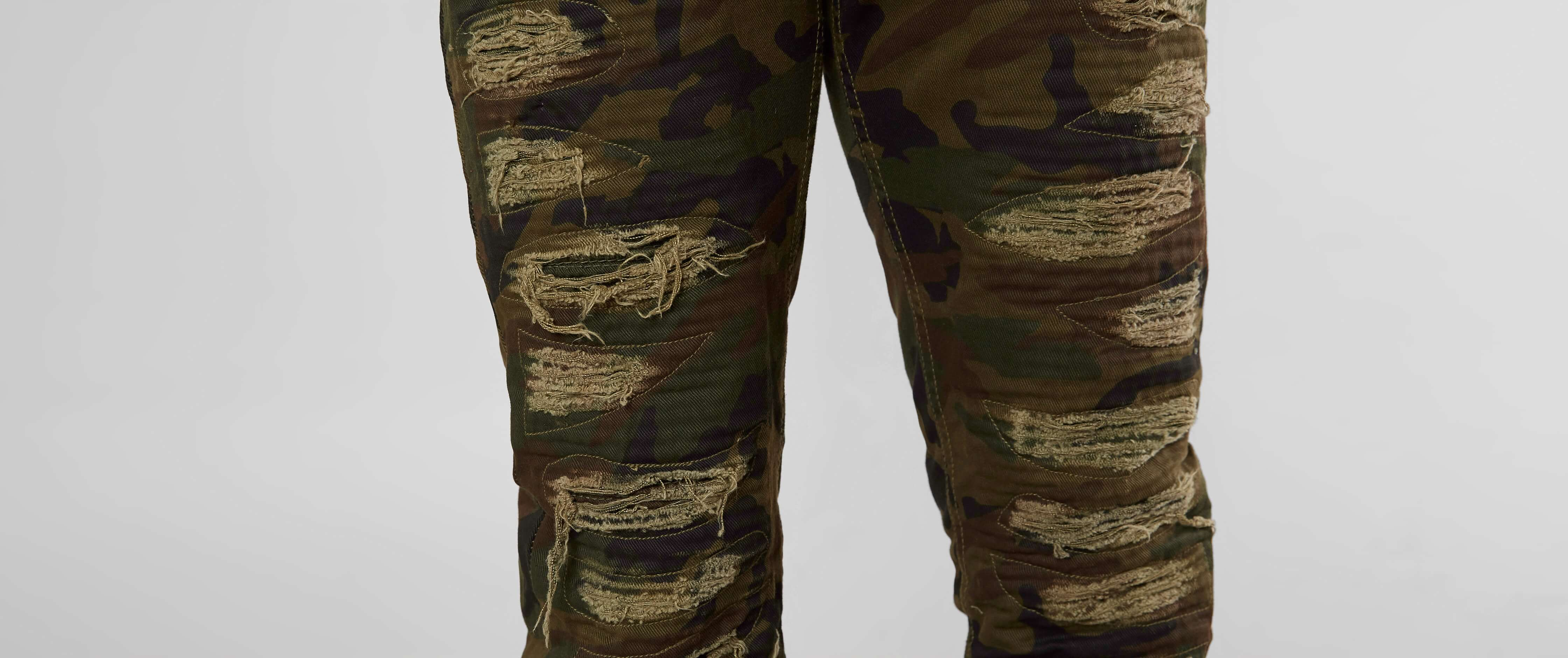 b2fbe3dc81 Grindhouse Shredded Camo Jeans  7SwPm1613263  -  28.99