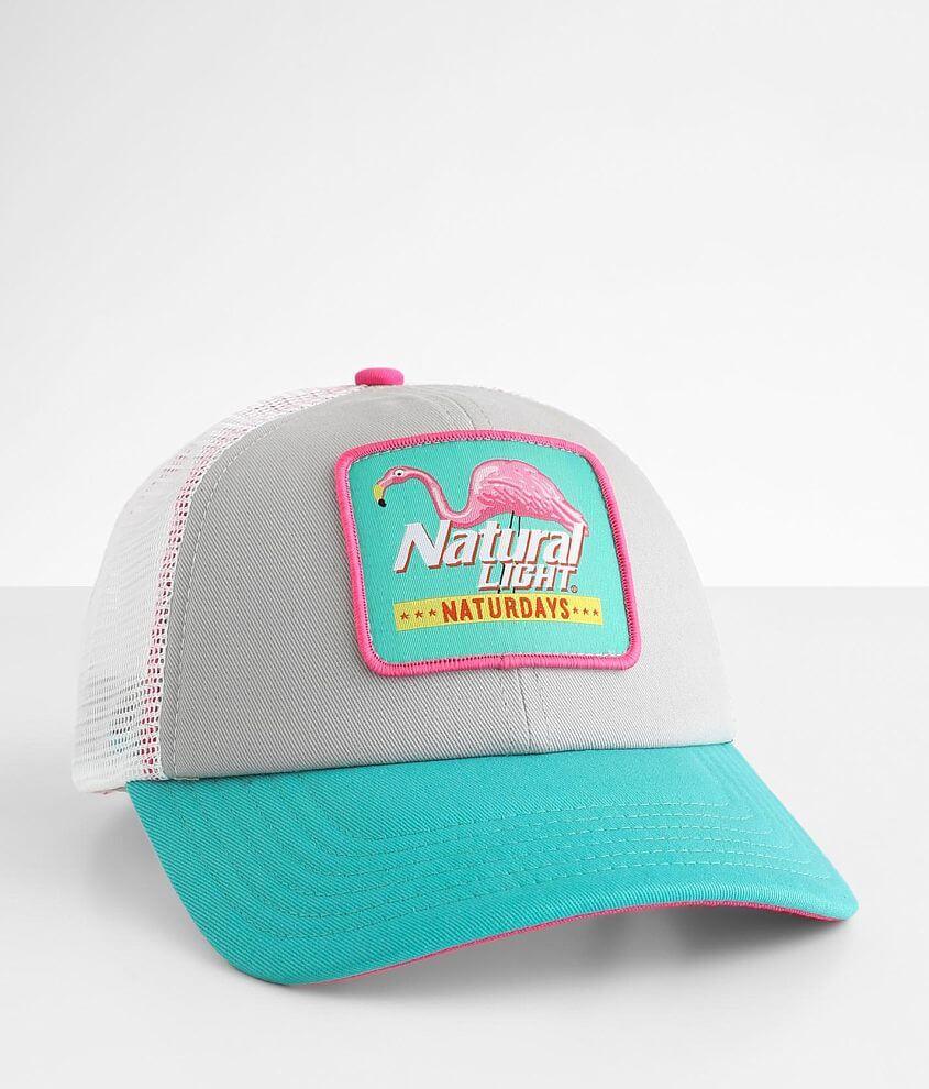 H3 Headwear Natural Light® Trucker Hat front view