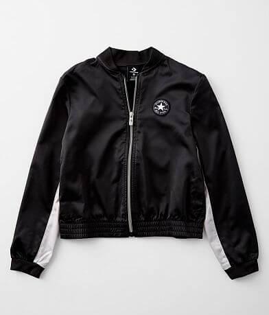 Girls - Converse Satin Color Block Bomber Jacket