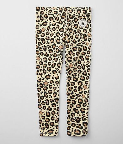 Girls - Converse Star & Leopard Print Legging