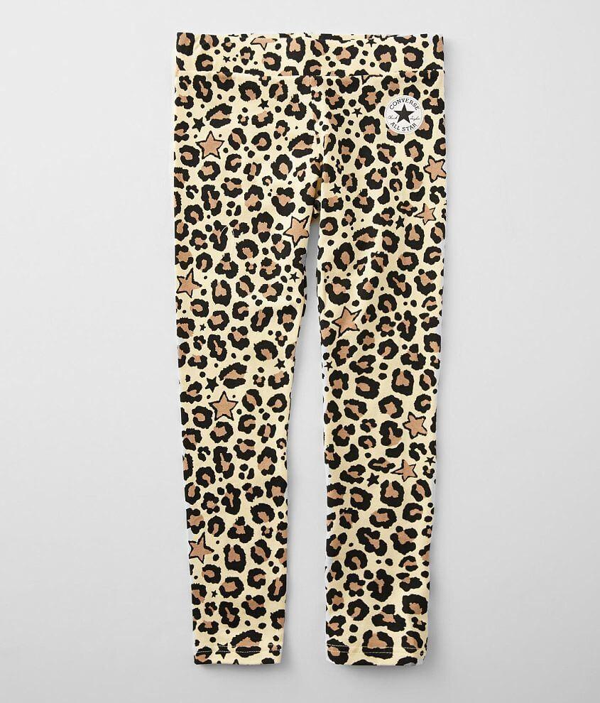 Girls - Converse Star & Leopard Print Legging front view