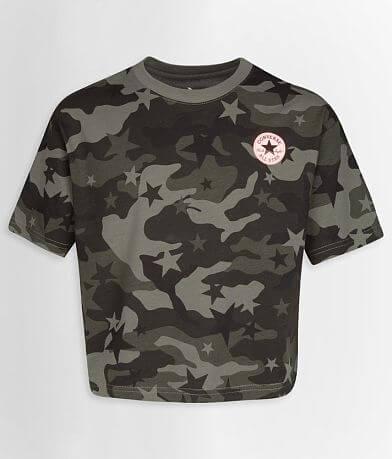 Girls - Converse Star Camo T-Shirt