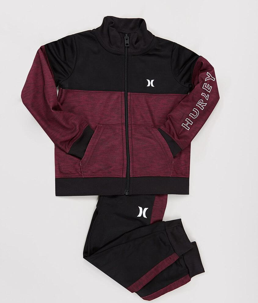 Toddler - Hurley Icon Track Jacket & Jogger Set front view