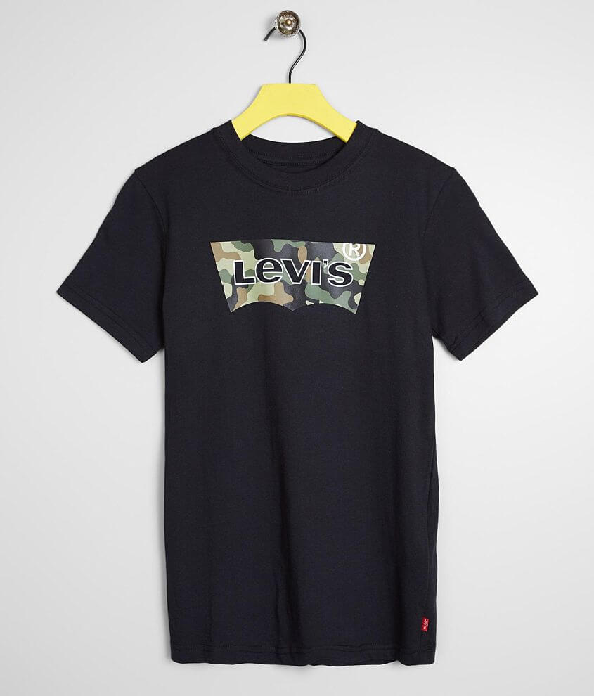 Boys - Levi's® Camo Batwing T-Shirt front view