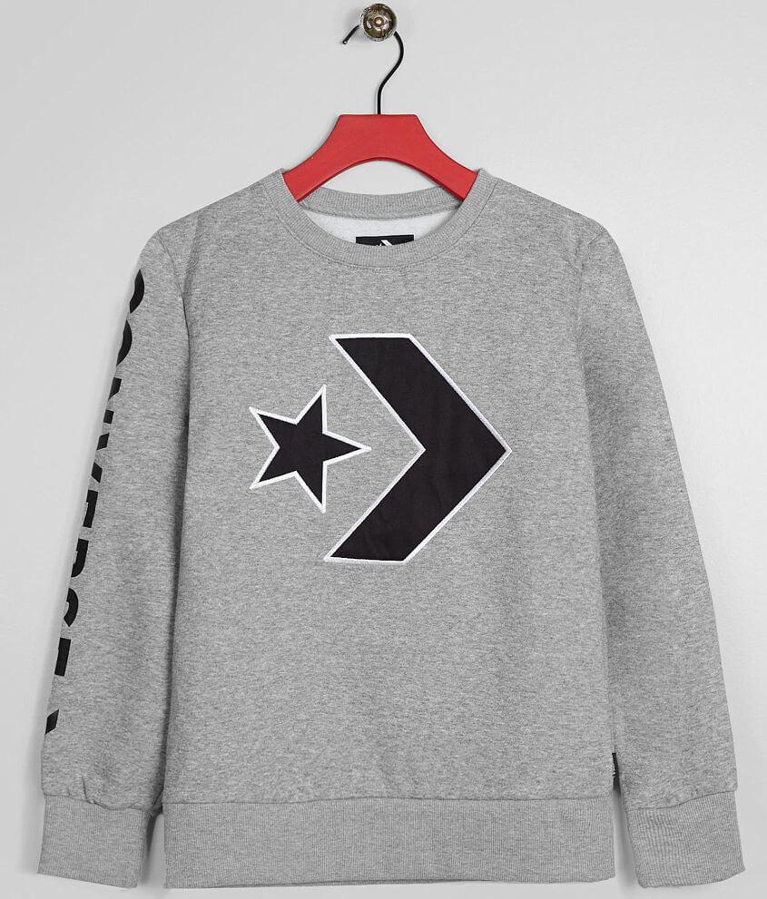 c3786b1d42e0 Boys - Converse Star Chevron Sweatshirt - Boy s Sweatshirts in Dark ...
