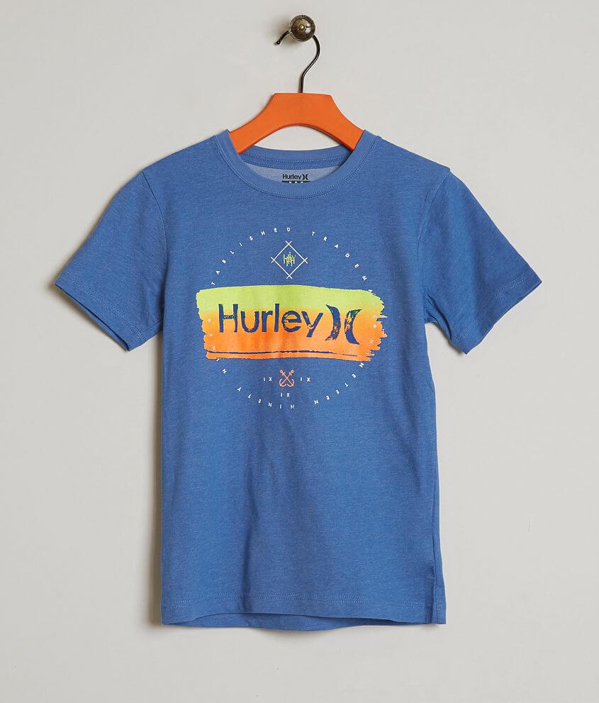 Boys - Hurley Never Dri-FIT T-Shirt - Boy s T-Shirts in Blue Heather ... 6ae9d4d9df7