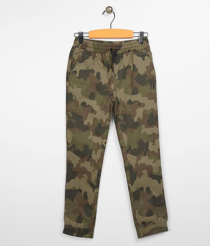 Boys - Hurley Camo Tapered Jogger Pant front view