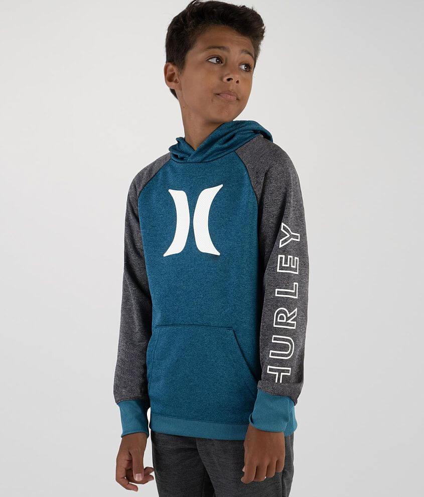 Boys - Hurley Solar Icon Dri-FIT Hooded Sweatshirt front view