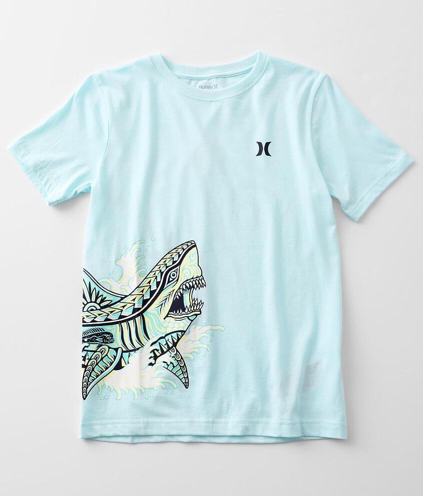 Boys - Hurley Tribal Shark T-Shirt front view