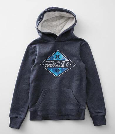 Boys - Hurley Diamond Logo Hooded Sweatshirt