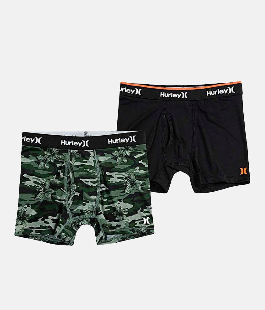 Boys - Hurley 2 Pack Dri-FIT Boxer Briefs