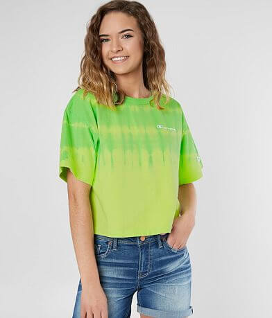 Champion® Tie Dye Cropped T-Shirt