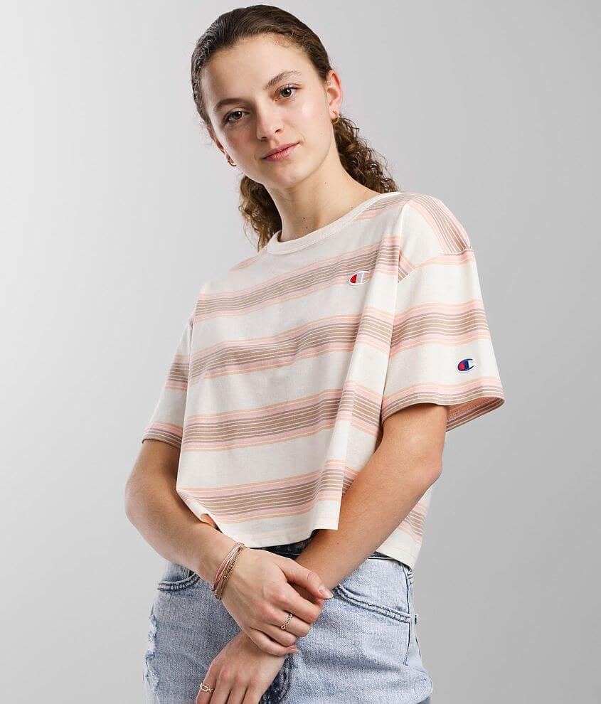 Champion® Heritage Cropped T-Shirt front view