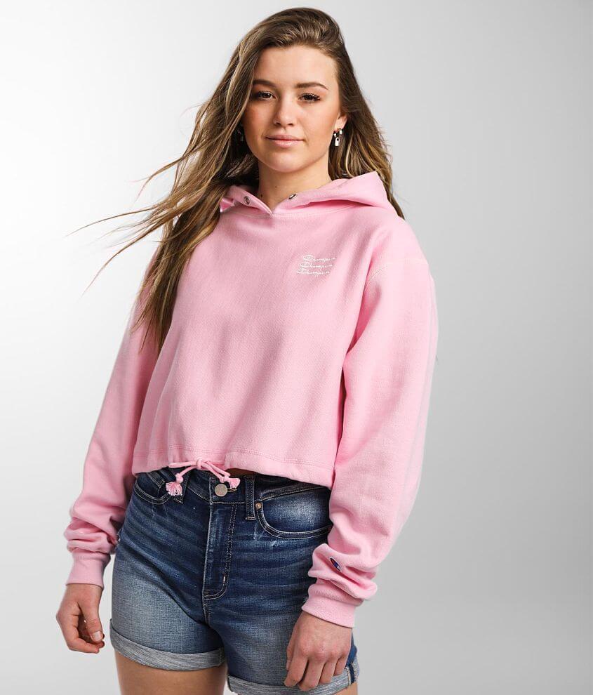 Champion® Reverse Weave Hooded Sweatshirt front view