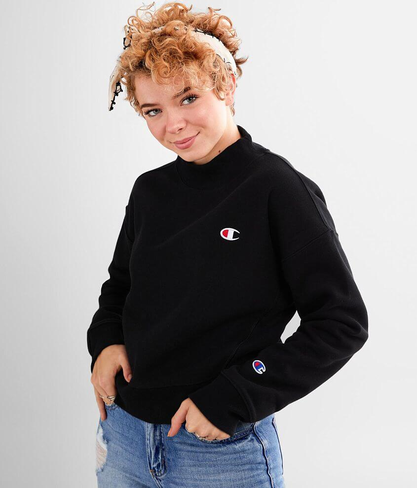 Champion® Reverse Weave Mock Neck Sweatshirt front view