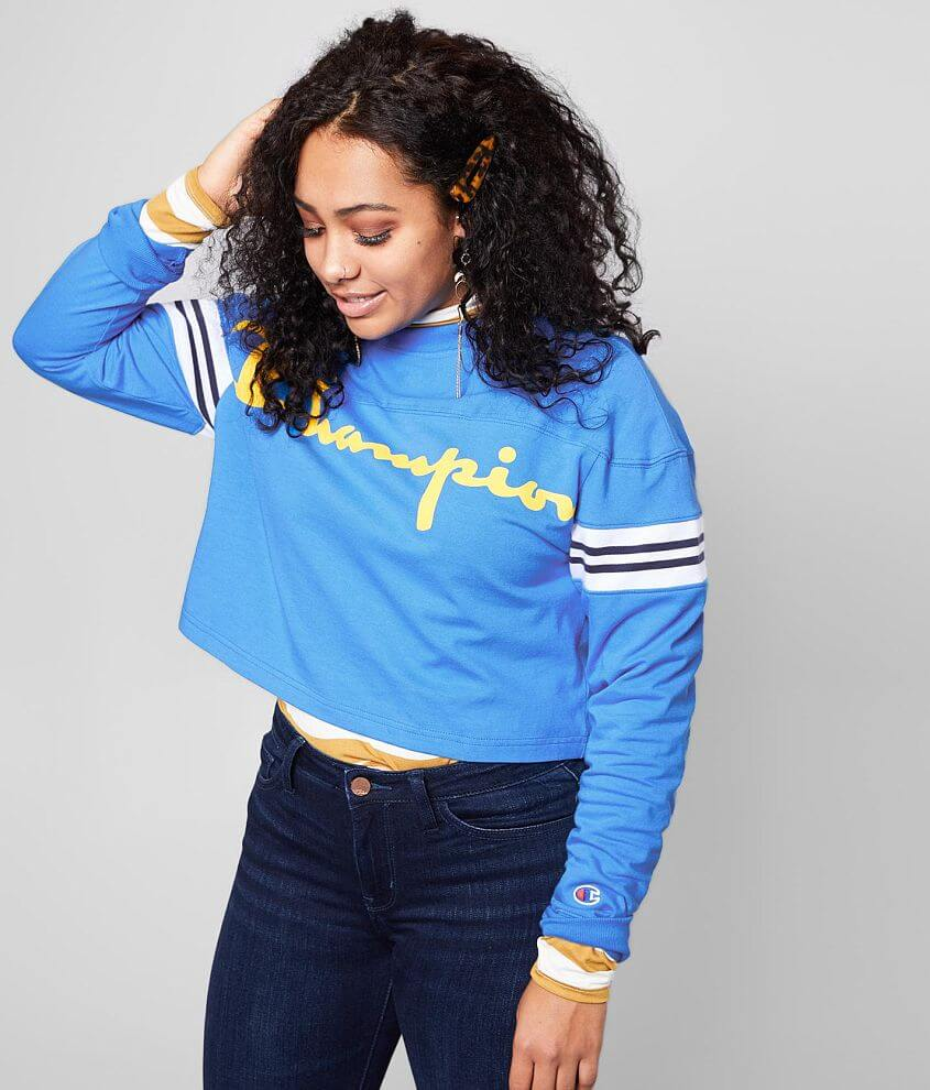 Champion® Heavyweight Jersey Cropped Top front view