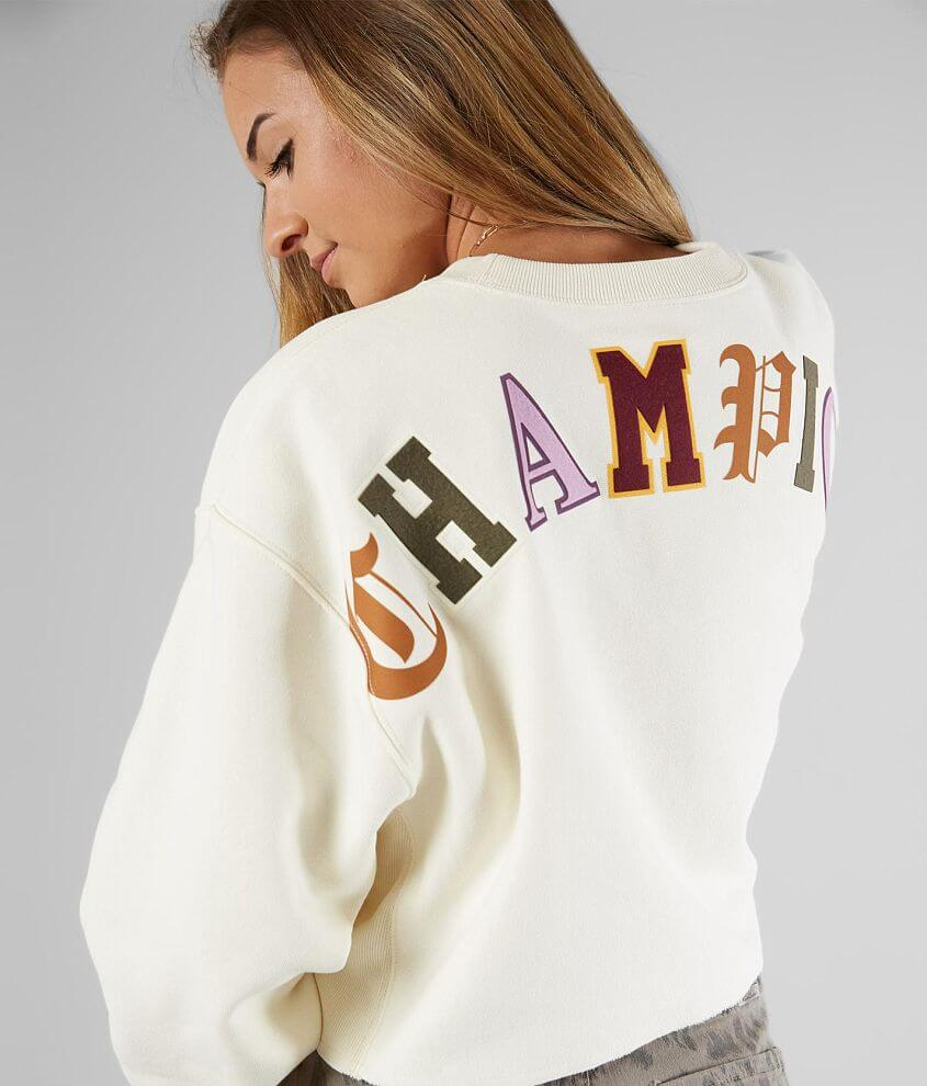 Champion® Old English Cropped Sweatshirt front view
