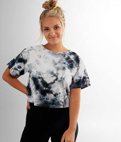 Champion® Big Sky Tie Dye Cropped T-Shirt