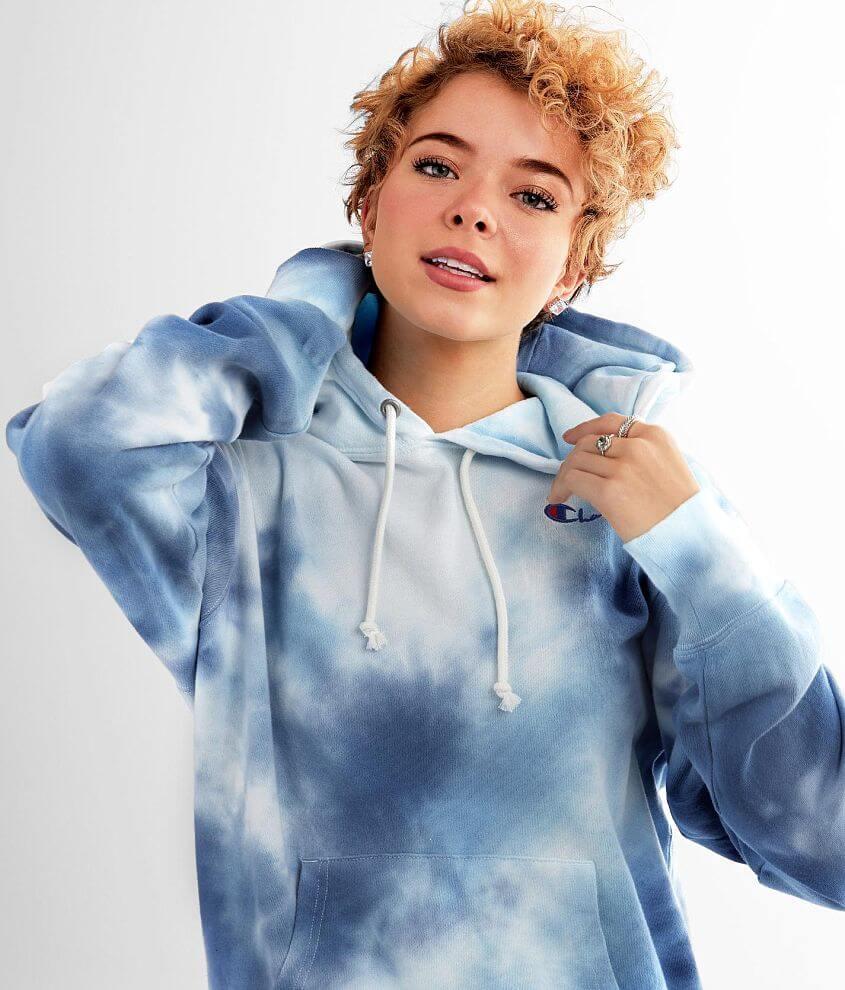 Champion® Big Sky Tie Dye Hooded Sweatshirt front view