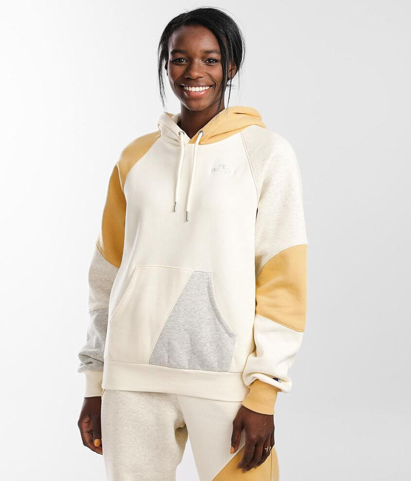 Champion® Classic Patch Hooded Sweatshirt front view