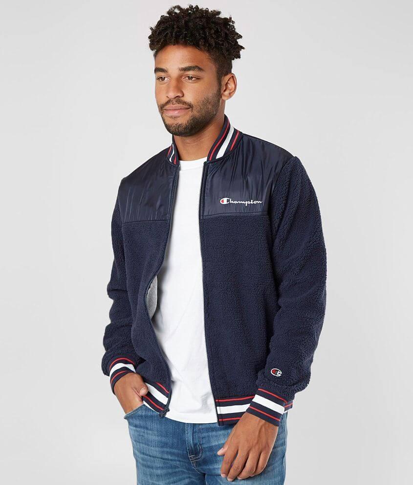 cc6e331b0323 Champion® Sherpa Baseball Jacket - Men s Coats Jackets in Navy