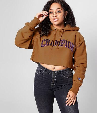 Champion® Cropped Vintage Washed Sweatshirt
