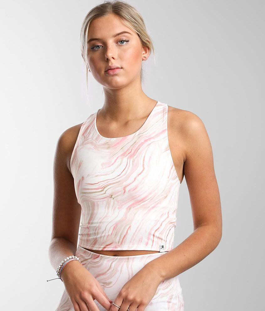 Champion® Eco Sculpt Active Cropped Tank Top front view