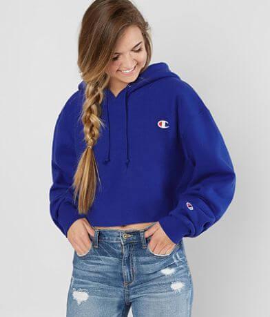 Champion® Raw Edge Hooded Sweatshirt