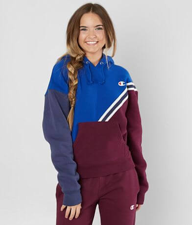 Champion® Color Block Hooded Sweatshirt