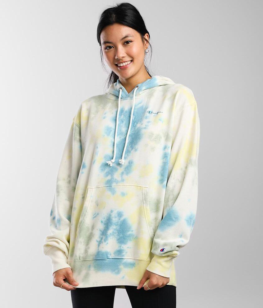 Champion® Sunwash Hooded Sweatshirt front view