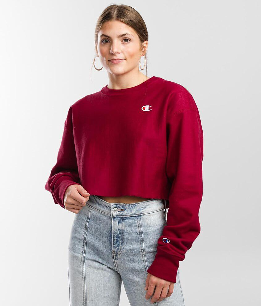 Champion® Reverse Weave Cropped Sweatshirt front view