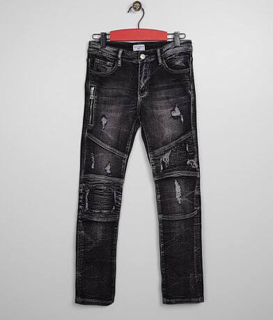 Haus of JR Tapered Biker Stretch Jean