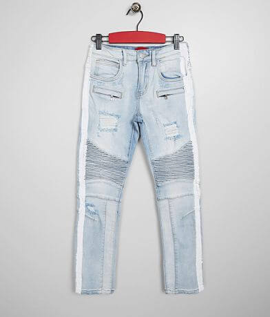 Haus of JR Washed Moto Taper Stretch Jean