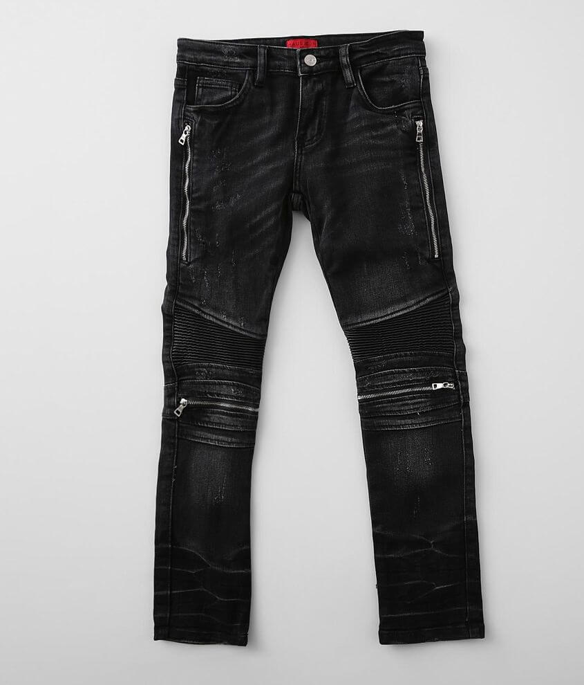 Boys - Haus of JR Liam Moto Taper Stretch Jean front view