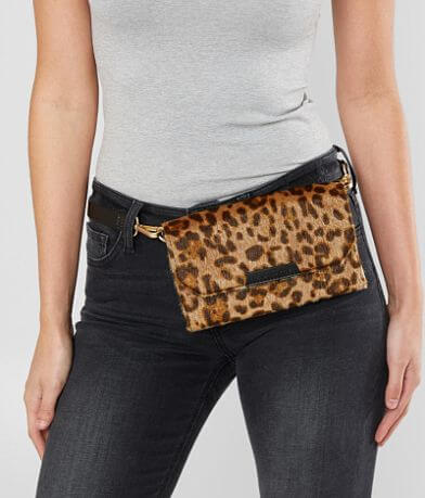 KENDALL + KYLIE Bay Leopard Crossbody Purse