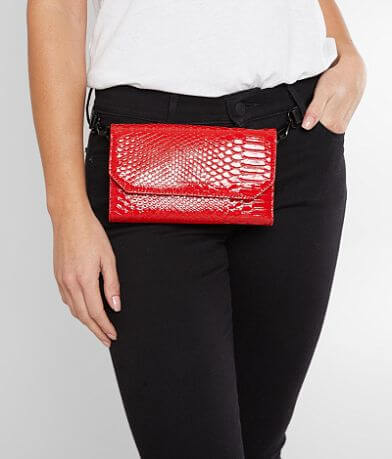 KENDALL + KYLIE Bay Snake Crossbody Clutch