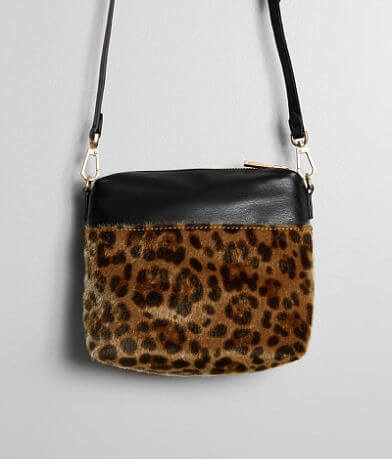 KENDALL + KYLIE Callie Leopard Crossbody Purse