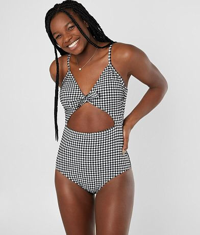 Heat® Gingham Cut-Out Swimsuit