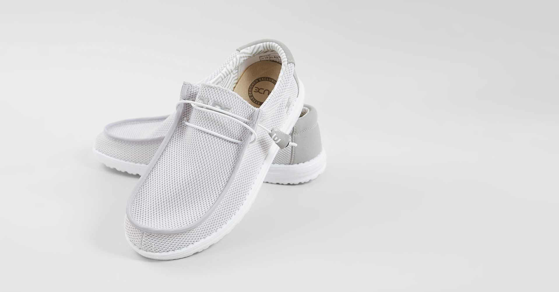 Hey Dude Wally B Sox Shoe - Men's Shoes in White Grey | Buckle