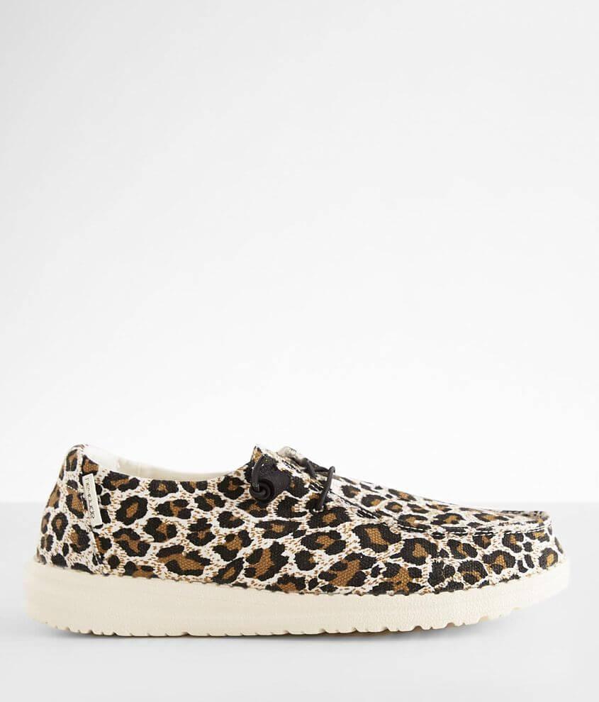 Hey Dude Wendy Cheetah Shoe front view