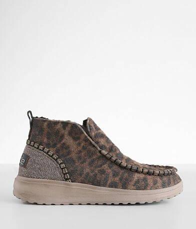 Hey Dude Helis Leopard Fleece Shoe