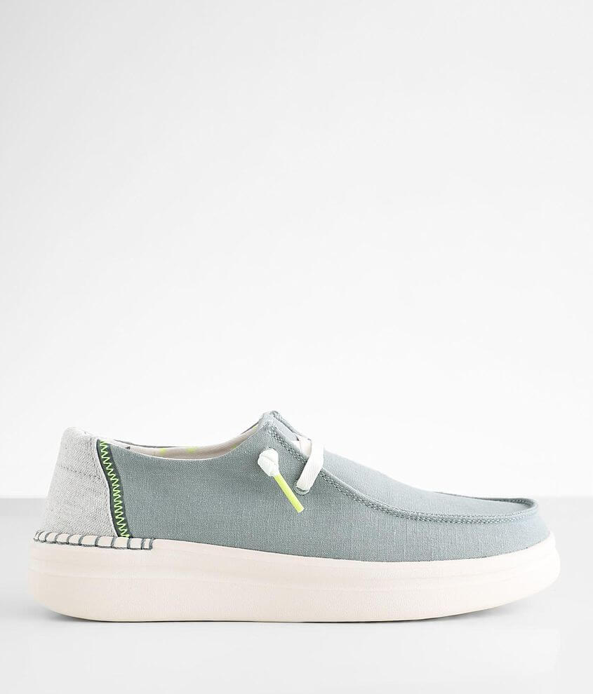 Hey Dude Wendy Rise Chambray Shoe front view