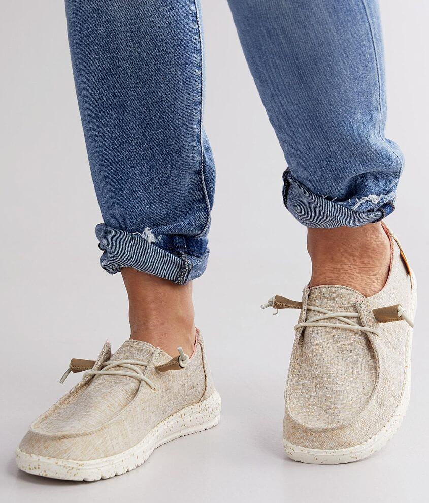 Hey Dude Wendy Shoe Women S Shoes In White Nut Buckle