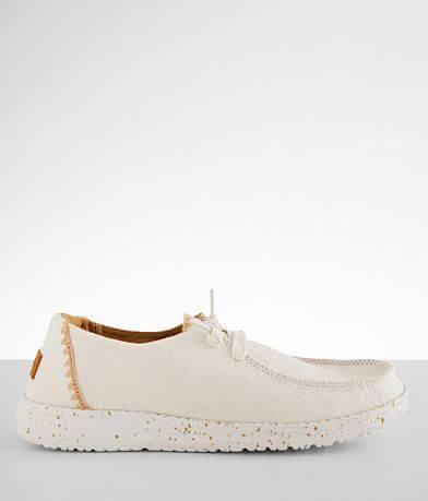 Hey Dude Wendy Crochet Trim Shoe