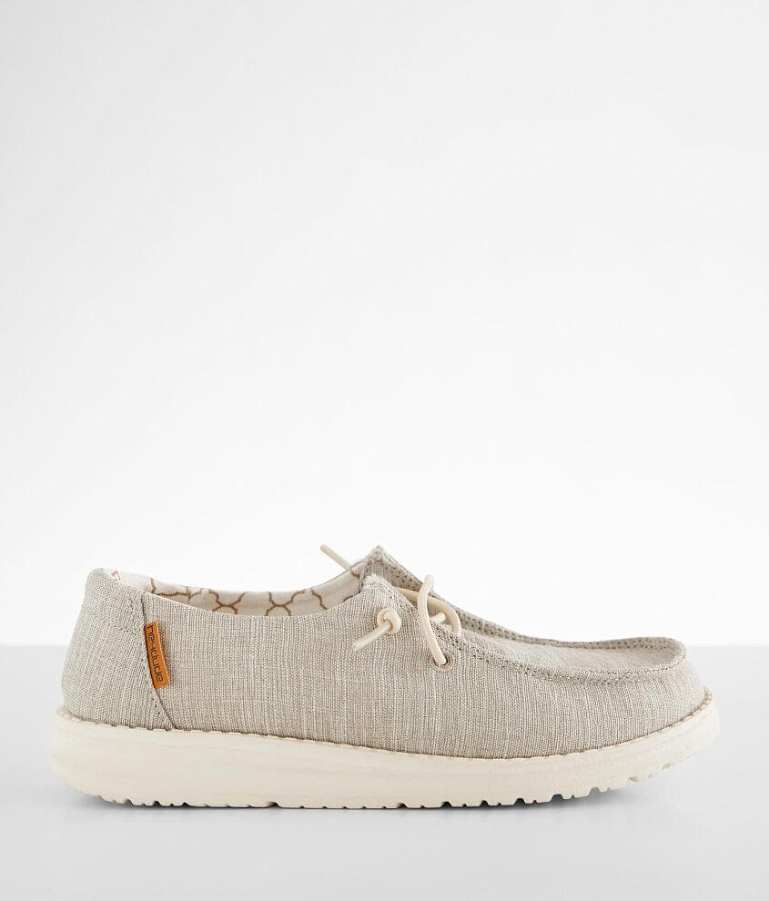 Toddler/Youth - Hey Dude Wendy Linen Shoe front view