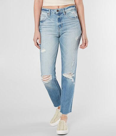 HIDDEN Tracey High Rise Ankle Straight Jean