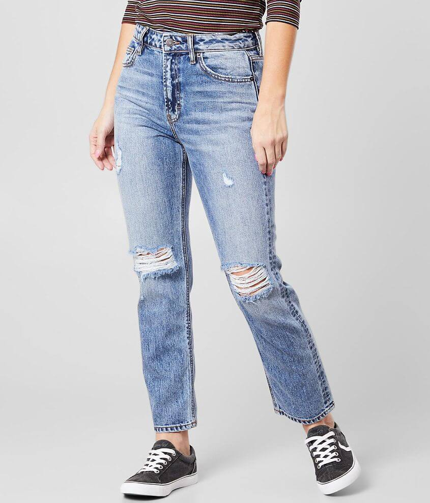 HIDDEN Zoey Mom Fit Jean front view